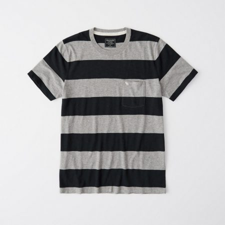 Hình Áo thun nam Abercrombie & Fitch AF-US-T35 STRIPED ICON POCKET TEE
