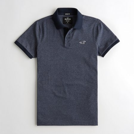 Hình Áo thun nam Hollister HCO-P213 Stretch Muscle Fit Polo heather navy