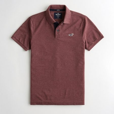 Hình Áo thun nam Hollister HCO-P215 Stretch Classic Fit Polo heather burgundy