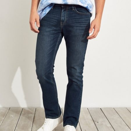 Hình Quần jean nam Hollister HCO-US-J23 Epic Flex Slim Straight medium wash