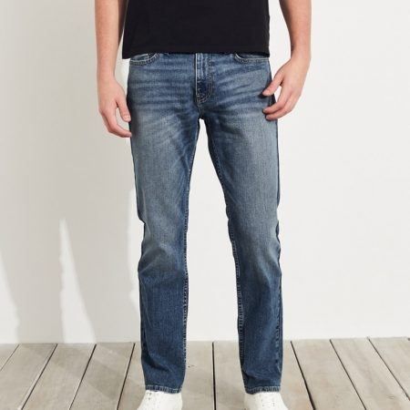 Hình Quần jean nam Hollister HCO-US-J25 Slim Straight light medium wash