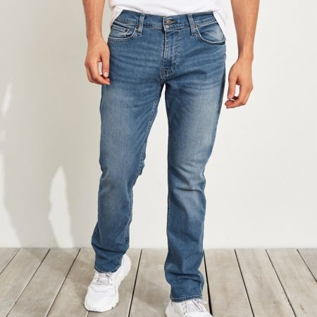 Hình Quần jean nam Hollister HCO-US-J27 Slim Straight bright medium wash