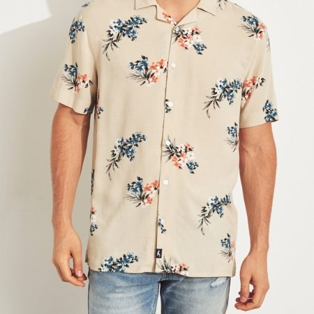 Hình Áo sơmi nam Hollister HCO-US-SM27 Short-Sleeve Pineapple Shirt