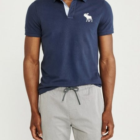 Hình Áo thun polo Abercrombie & Fitch AF-US-P49 Super Slim Exploded Icon Polo