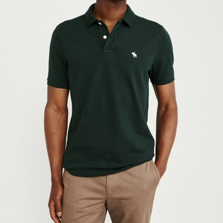 Hình Áo thun polo Abercrombie & Fitch AF-US-P56 Stretch Icon Polo Dark Green