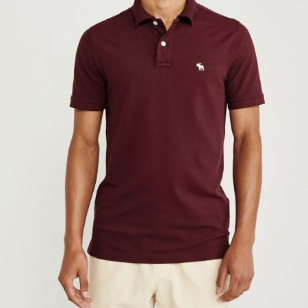 Hình Áo thun polo Abercrombie & Fitch AF-US-P58 Stretch Icon Polo Burgundy