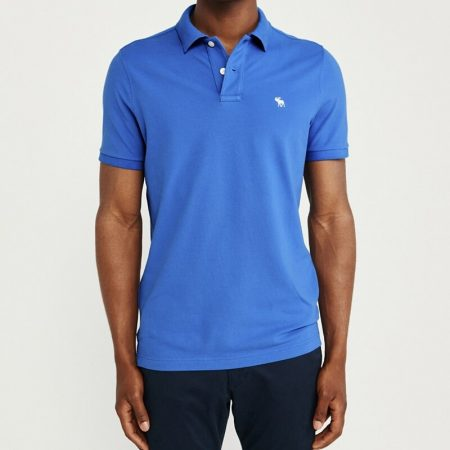 Hình Áo thun polo Abercrombie & Fitch AF-US-P59 Stretch Icon Polo Blue