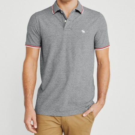 Hình Áo thun polo Abercrombie & Fitch AF-US-P64 Tipped Icon Stretch Polo