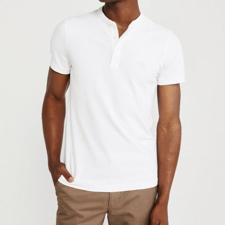 Hình Áo thun polo Abercrombie & Fitch AF-US-P67 Super Slim Banded Polo White