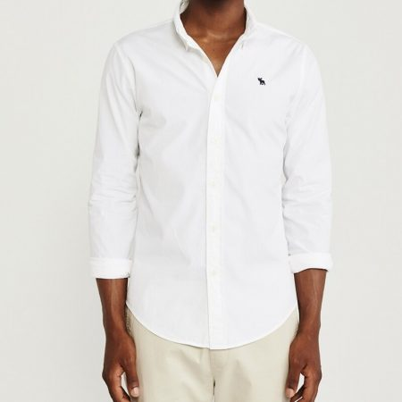 Hình Áo sơmi nam Abercrombie & Fitch AF-US-SM99 Super Slim Poplin Shirt