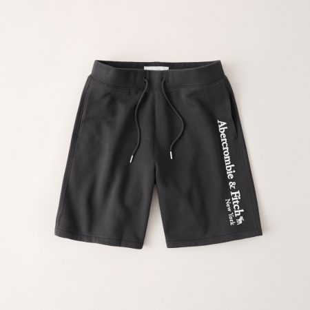 Hình Quần shorts thun nam AF-S08 Fleece Logo Shorts Dark Grey