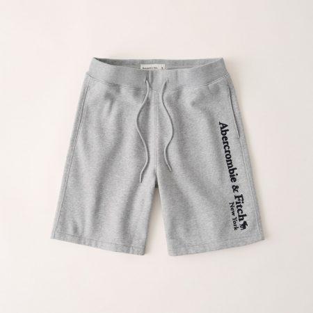 Hình Quần shorts thun nam AF-S09 Fleece Logo Shorts Heather Grey