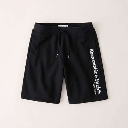 Hình Quần shorts thun nam AF-S10 Fleece Logo Shorts Black