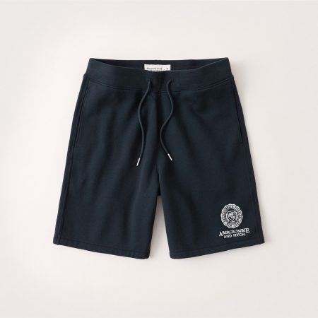 Hình Quần shorts thun nam AF-S11 Fleece Logo Shorts Navy Blue