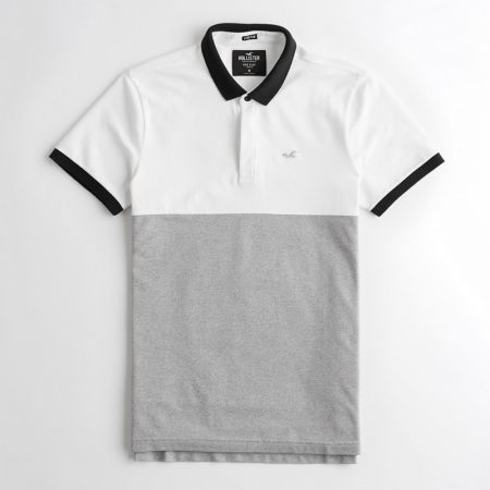 Hình Áo thun nam Hollister HCO-P202 Stretch Shrunken Collar Polo Color Block