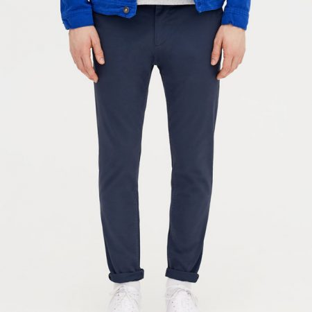 Hình Quần khaki nam Chinos Pull&Bear a Skinny chino trousers Navy