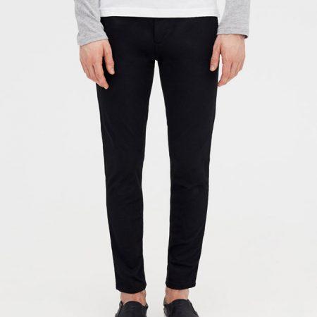 Hình Quần khaki nam Chinos Pull&Bear PAB-Q02 Skinny chino trousers Black