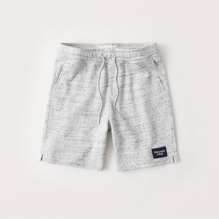 Hình Quần shorts thun nam AF-S12 Fleece Patch Logo Shorts Light Heather Grey