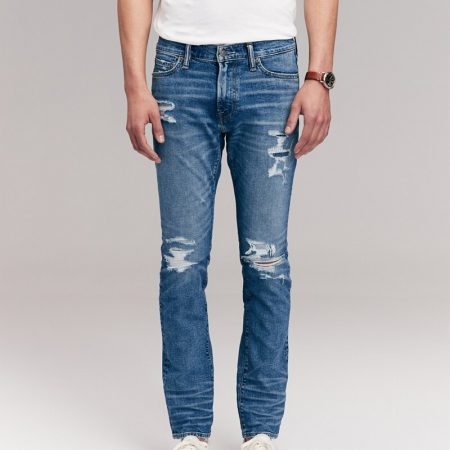 Hình Quần Jean nam Abercrombie & Fitch AF-US-J54 Ripped Skinny Jeans