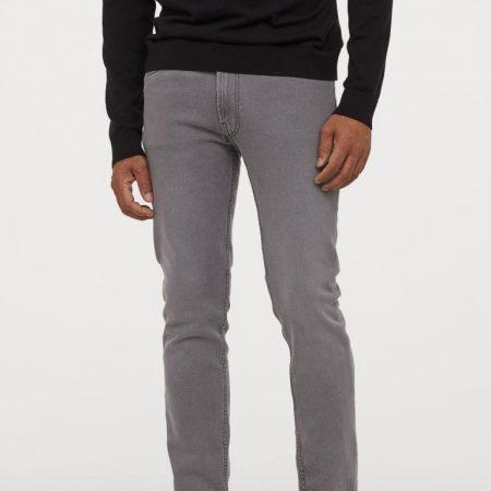 Hình Quần jeans nam HM Slim Fit HM-J01 Slim Jeans Grey