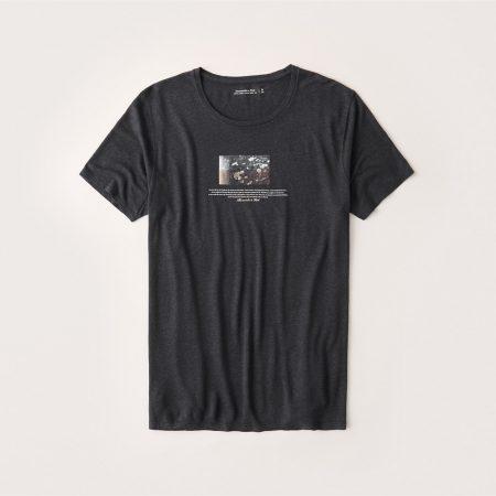 Hình Áo thun nam Abercrombie & Fitch AF-T287 Linen-Blend Graphic Tee