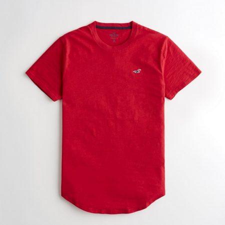 Hình Áo thun nam Hollister HCO-T151 Curved Hem T-Shirt Red