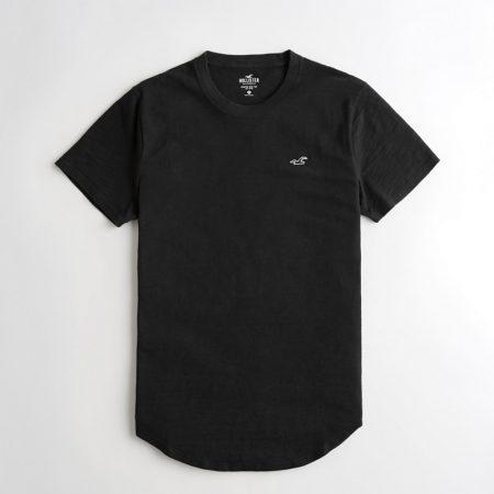 Hình Áo thun nam Hollister HCO-T152 Curved Hem T-Shirt Black