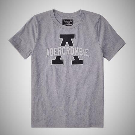 Hình Áo thun nam Abercrombie & Fitch AF-T238 Applique Logo Graphic Tee