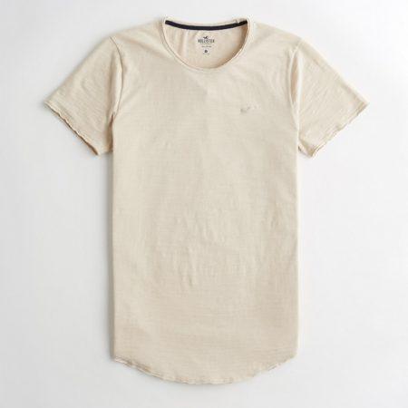 Hình Áo thun nam Hollister HCO-T153 Curved Hem T-Shirt Cream