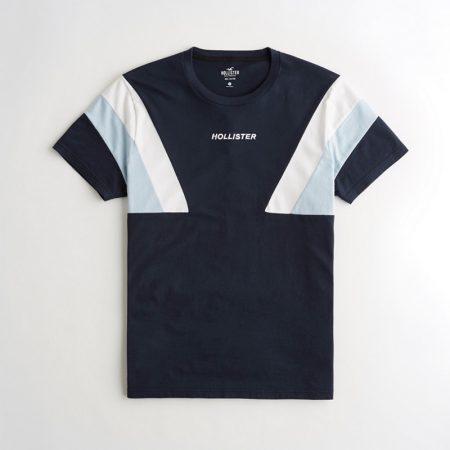 Hình Áo thun nam Hollister HCO-T163 Colorblock Crewneck T-Shirt Navy