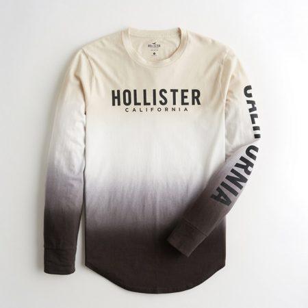 Hình Áo thun nam tay dài Hollister HCO-HL19 Ombré Print Logo Graphic Tee