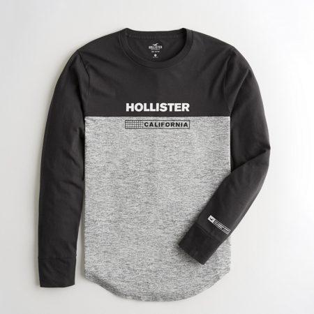 Hình Áo thun nam tay dài Hollister HCO-HL22 Colorblock Print Graphic Tee
