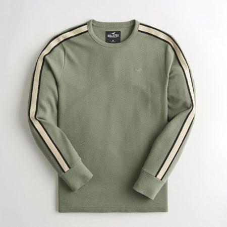 Hình Áo thun nam tay dài Hollister HCO-HL49 Stripe Jacquard Crewneck T-Shirt