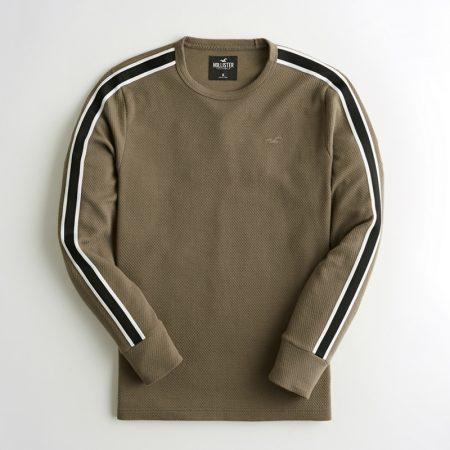 Hình Áo thun nam tay dài Hollister HCO-HL50 Stripe Jacquard Crewneck T-Shirt