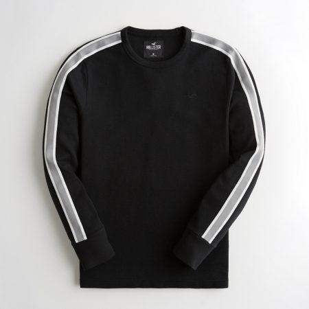 Hình Áo thun nam tay dài Hollister HCO-HL51 Stripe Jacquard Crewneck T-Shirt