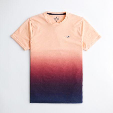 Hình Áo thun nam Hollister HCO-T165 Crewneck T-Shirt coral to navy ombre