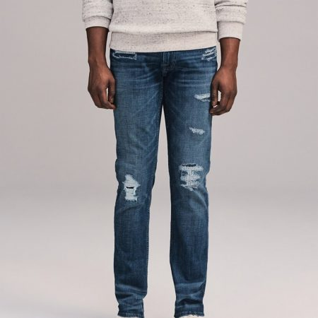 Hình Quần Jean nam Abercrombie & Fitch AF-US-J61 Repaired Skinny Jeans