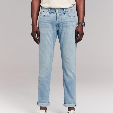 Hình Quần Jean nam Abercrombie & Fitch AF-US-J62 Skinny Jeans Light Wash
