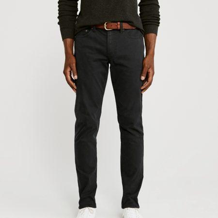 Hình Quần khaki nam AF-US-Q20  A&F Signature Stretch Twill  Skinny Sateen Pants