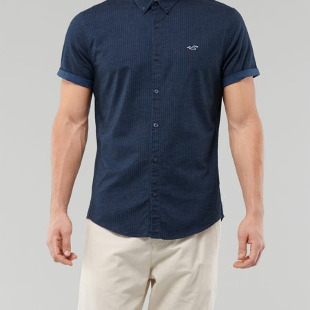 Hình Áo sơmi nam Hollister HCO-US-SM29 Stretch Oxford Muscle Fit Shirt
