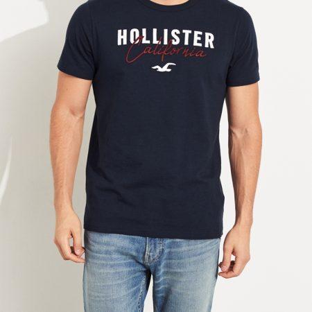 Hình Áo thun nam Hollister HCO-US-T18 Embroidered Logo Graphic Tee Navy