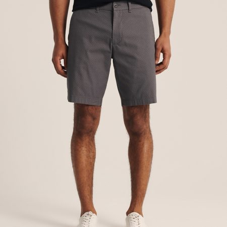 Hình Quần shorts Abercrombie AF-US-S06 Stretch Chino Shorts Dark Grey