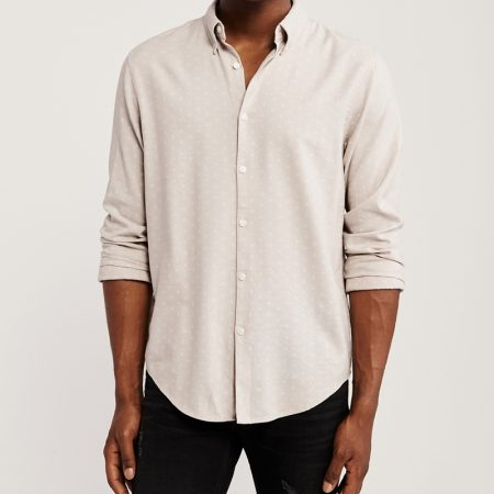 Áo sơ mi nam Abercrombie AF-US-SM104 Long-Sleeve Button-Up image