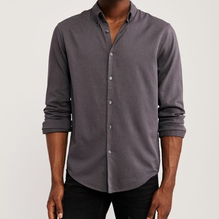 Hình Áo sơ mi nam Abercrombie AF-US-SM105 Long-Sleeve Button-Up
