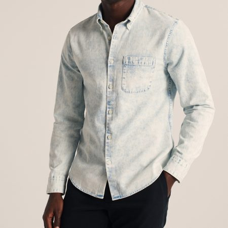 Hình Áo sơ mi nam Abercrombie AF-US-SM107 Button-Up Denim Shirt