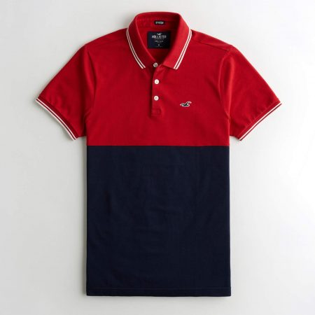Hình Áo thun nam Hollister HCO-P237 Stretch Colorblock Polo