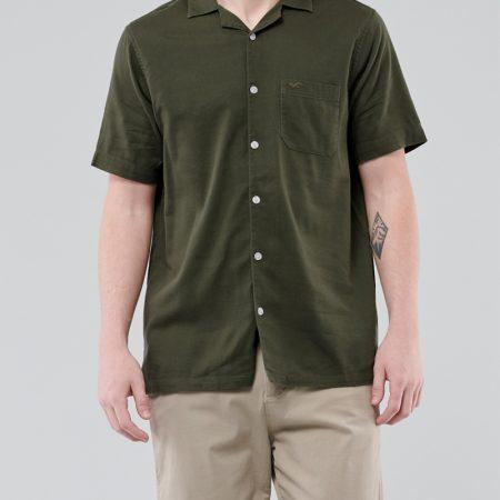 Hình Áo sơmi nam Hollister HCO-US-SM30 Hollister Summer Shirt Olive