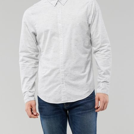 Hình Áo sơmi nam Hollister HCO-US-SM31 Stretch Poplin Slim Fit Shirt