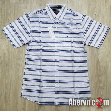 Hình Áo sơmi nam Tommy TM-SM10 Linen Slim Fit Shirt White