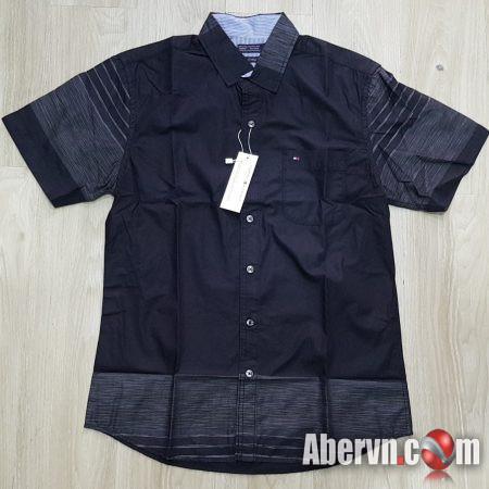 Hình Áo sơmi nam Tommy TM-SM11 Linen Slim Fit Shirt Black
